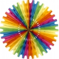 Multi Coloured Rainbow Tissue Fan